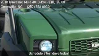4. 2018 Kawasaki Mule 4010 4x4  for sale in Greenville, NC 2783