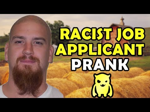 ownage pranks - I was given the number to a guy who recently applied for a bunch of jobs, and was told that he is highly suspected of being racist. I decided to call as a Bl...