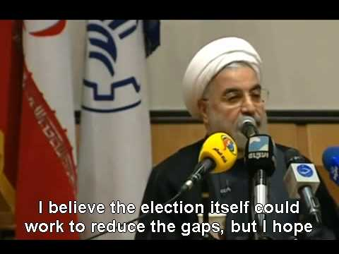 Rouhani's view on the House Arrest of Mousavi & Karroubi w/ English subtitles (видео)