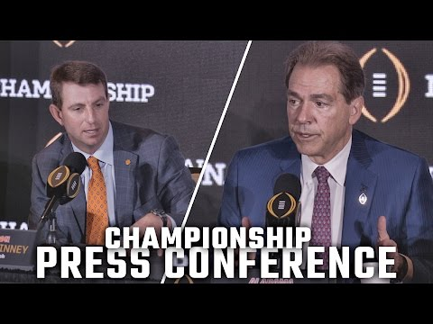Hear what Nick Saban and Dabo Swinney said in final press conference before championship