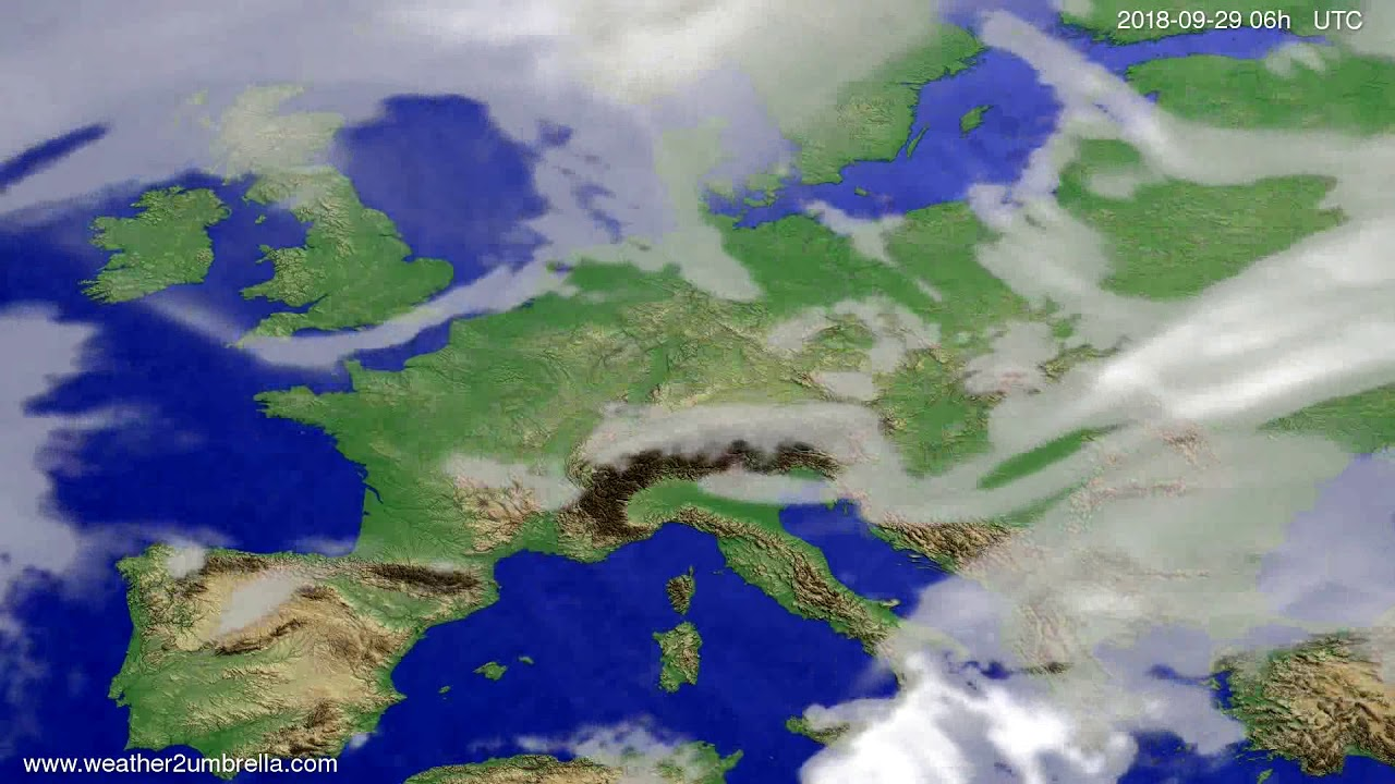 Cloud forecast Europe 2018-09-26
