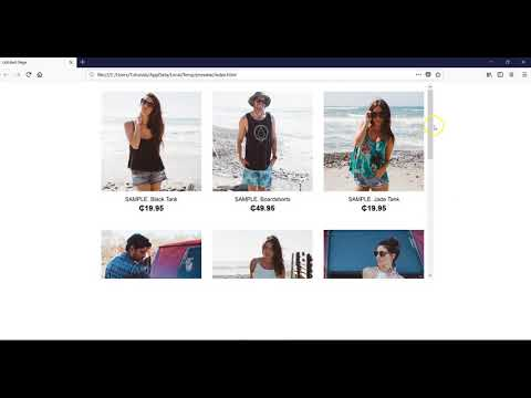 Building an ecommerce store with ecwid using layout grid in WYSIWYG Web Builder