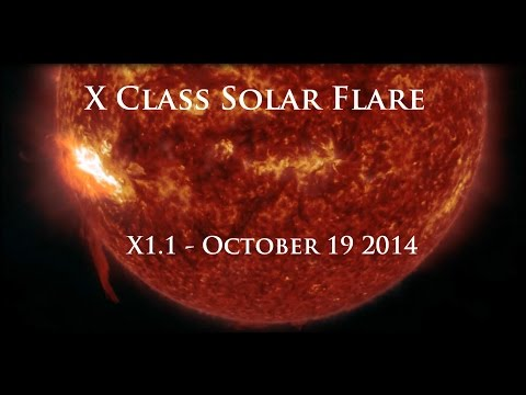 X1 - Multiple views of the X Class solar flare (X1.1). _____ Update 115pm CDT Sunday October 19, 2014 : Well, what do ya know, its going to be a glancing blow after all.. link here check the...