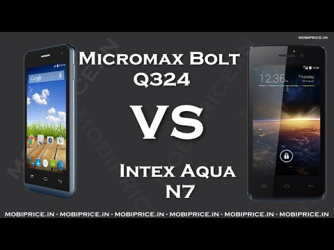 Compare Online Intex Aqua N7 VS Micromax Bolt Q324 Price, Specification, Review