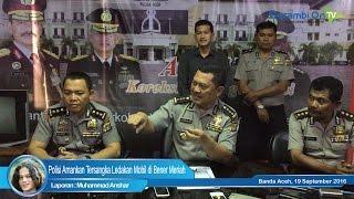 Polisi Amankan Tersangka Ledakan Mobil di Bener Meriah