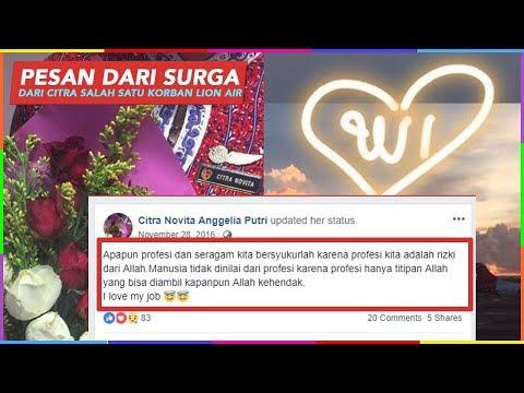 PESAN TERAKHIR CITRA SALAH SATU KORBAN LION AIR JT610 SEAKAN MEMBERIKAN PESAN PENTING !!