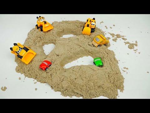 МАШИНКИ Грузовички и коварный песок - Видео для детей с машинками. Trucks for children (видео)