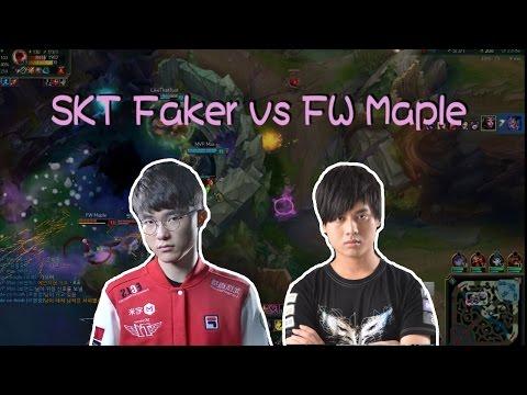 【實況精華】 Faker 勒布朗 vs FW Maple 吸血鬼 (中文字幕)