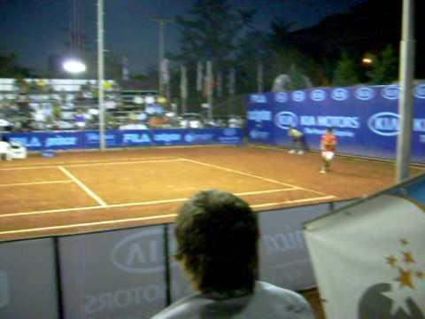 Hans Podlipnik y Ramírez Hidalgo en el Challenger de Santiago 2008