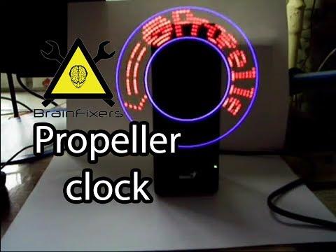 Часы пропеллер своими руками