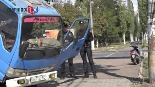 В Мариуполе трамвай пробил бензобак грузовику
