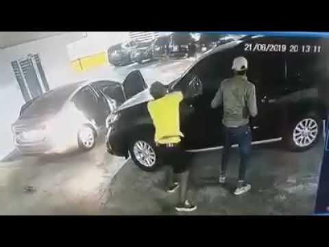 Impresionante robo a una camioneta blindada en Panamá