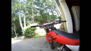 10. 2006 crf230f review take off cold start