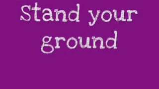 Superchic(k) - Stand in the rain (Lyrics and a cute font!)