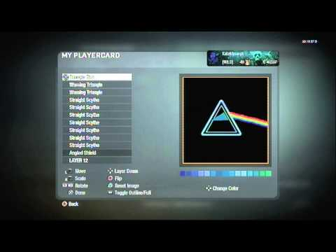 Call of Duty: Black Ops Emblem Tutorial - Pink Floyd (Dark Side of the Moon Album Art)