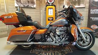 10. 2015 Harley Davidson ELectra Glide Ultra CLassic Low FLHTCUL amber whiskey & charcoal pearl