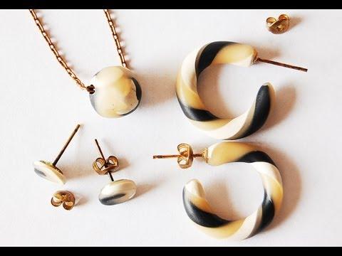 varietà di orecchini in fimo - ecco il procedimento per crearli!
