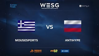 Mousesports vs AntiHype, WESG 2017 Dota 2 European Qualifier Finals
