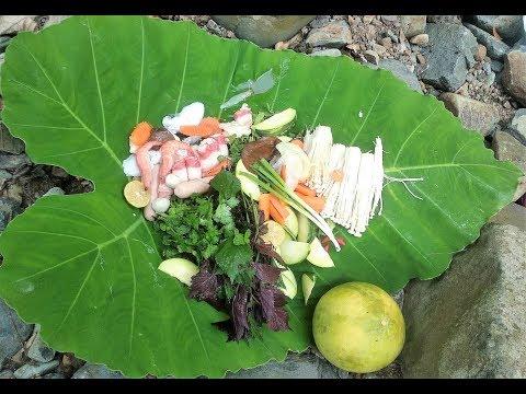 Ăn lẩu hải sản FA tại Thác Thăng Thiên Kỳ Sơn Hòa Bình