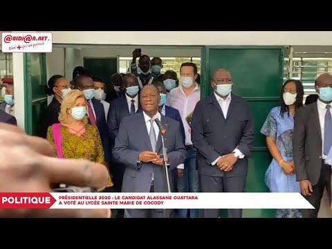 COTE D' IVOIRE : Présidentielle: le candidat Alassane Ouattara vote à Cocody