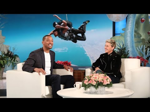 Will Smith Watched His Sons Jump Out of an Airplane (видео)