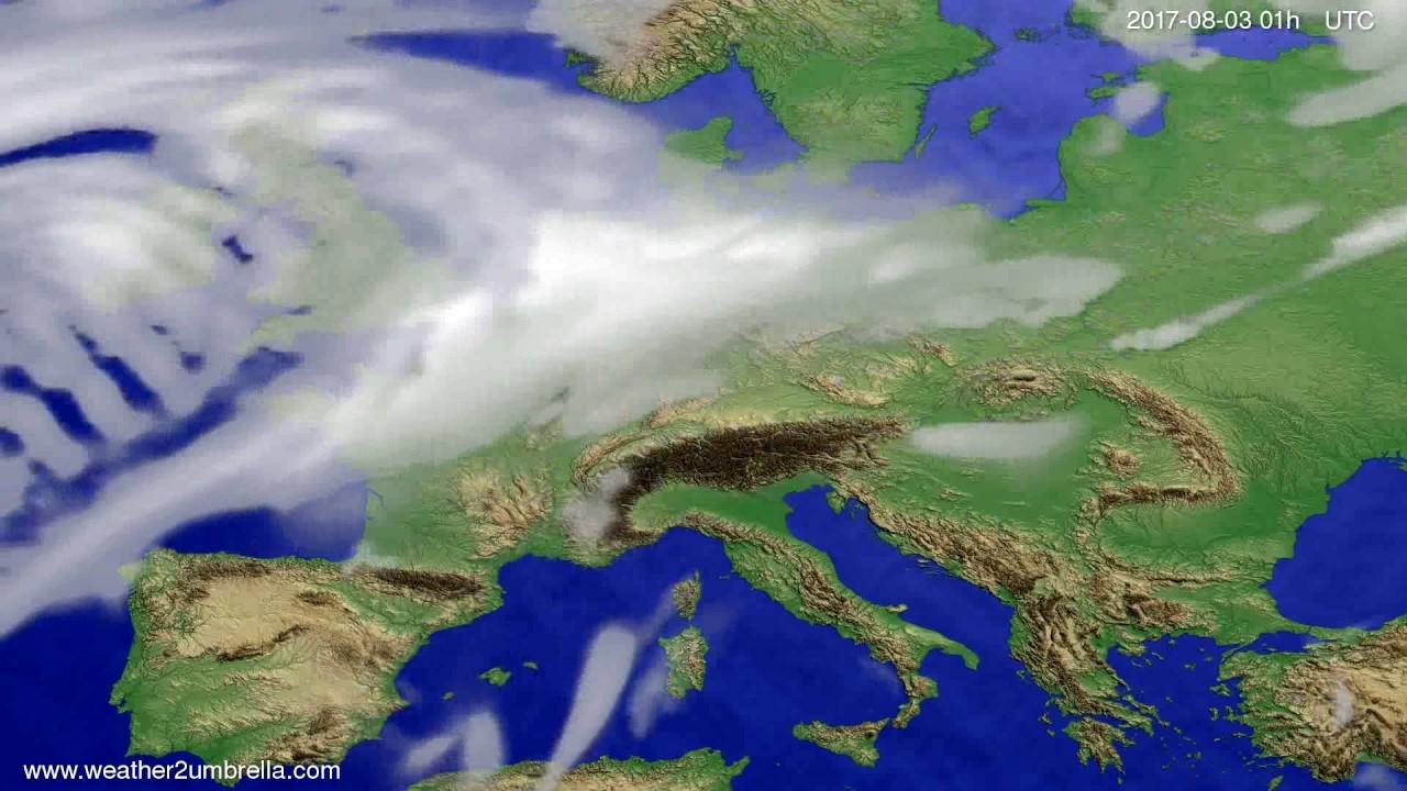 Cloud forecast Europe 2017-07-31