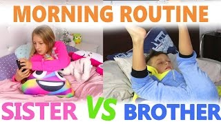 Nonton Morning Routine / Sister vs Brother Film Subtitle Indonesia Streaming Movie Download