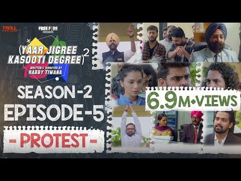 Yaar Jigree Kasooti Degree Season 2 | Episode 5 - PROTEST | Latest Punjabi Web Series 2020
