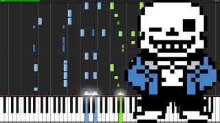 Megalovania - Undertale [Piano Tutorial] (Synthesia) // TheIshter