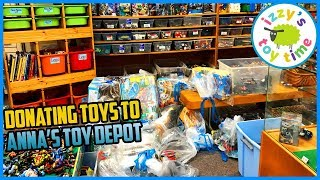 ANNA'S TOY DEPOT DONATION RUN! LEGO and Thomas and Friends! Fun Toy Cars and Trains for Kids!
