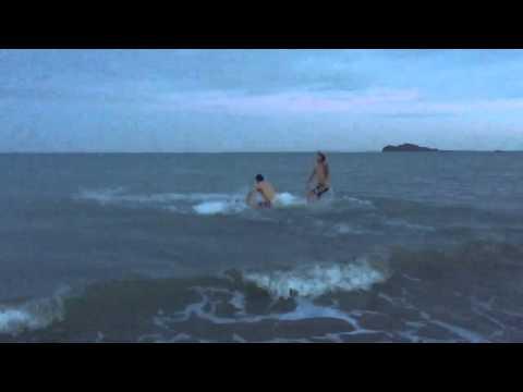 Video: Alan Gordon and Dan Gargan jump into a freezing Irish Sea