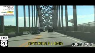 East Dubuque (IL) United States  city pictures gallery : Dubuque IA to East Dubuque IL US-20 Time Lapse Drive