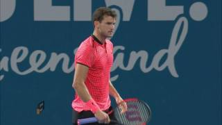 Match highlights from the Grigor Dimitrov two sets to one victory over Kei Nishikori in the Brisbane International 2017 Men's Final.