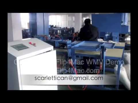 Automatic fiber carding and cushion pillow stuffing machine 001