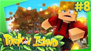 BLOWING UP LACHLAN'S HOUSE!  PIXELMON ISLAND #8 (Minecraft Pokemon Mod)