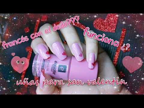 Decorados de uñas - #uñas Francés con el dedo funciona?/ + decorado para san valentin sencillo