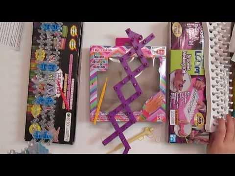 Rainbow Loom compare with  DIY Rubber Band Loom, Fun loom, Expressions Girl Loom