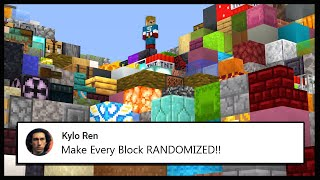 Minecraft, But The Blocks Are RANDOMIZED.. | Minecraft Top Comment #9