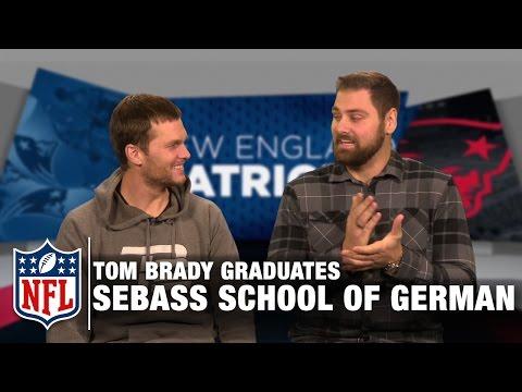 Video: Tom Brady Tries to Speak German in Sebastian Vollmer's School of German | Patriots | NFL