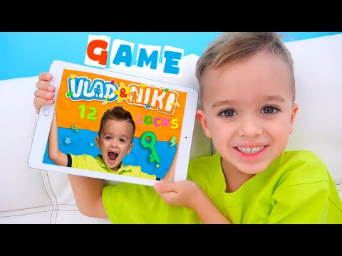 Vlad and Niki 12 Locks - new game for kids