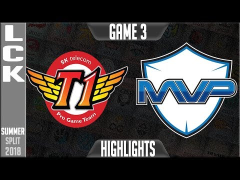 SKT vs MVP Highlights Game 3 | LCK Summer 2018 Week 5 Day 1 | SK Telecom T1 vs MVP G3 (видео)