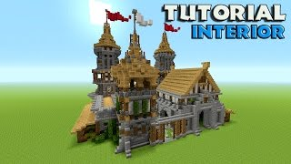 Minecraft: How To Build A Castle Tutorial | Barracks tutorial | Survival castle (Interior)