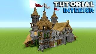 Minecraft: How To Build A Castle Tutorial | Barracks tutorial | Survival castle (Interior)