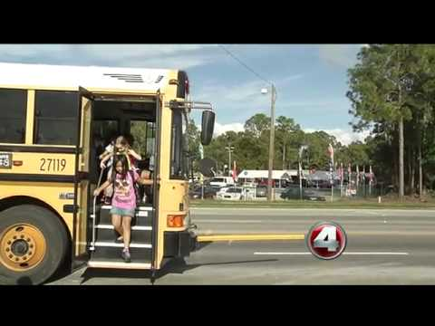 Lee County school buses gets cameras to catch stop sign runners