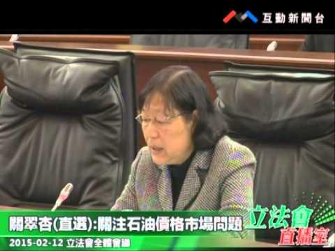 關翠杏  20150212立法會全體會議