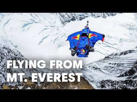 Flying from Mt Everest