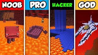 NOOB vs PRO vs HACKER vs GOD : LAVA TRANSPORT CHALLENGE in Minecraft! (Animation)