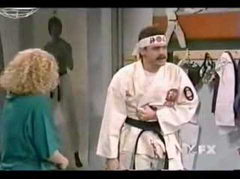 Karate - Jim carey as a karate instructor teaching self defence techniques.