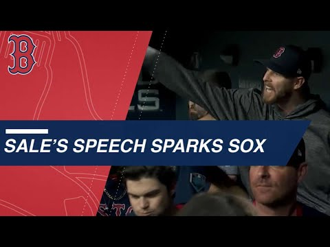 Video: Chris Sale's speech sparks the Red Sox comeback