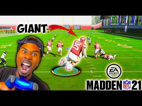 IS IT POSSIBLE TO BEAT THE GAUNTLET WITH GIANT PLAYERS!? MADDEN 21 THE GAUNTLET